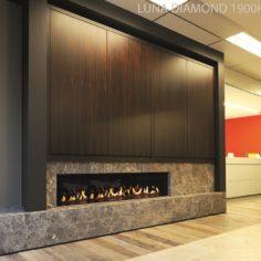 Luna 850v house of heat for Foyer au gaz 3 face